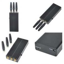 Portable Rechargeable CDMA/GSM/DCS/PHS/3G Cell Phone Signal Jammer/Blocker
