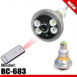 Bulb CCTV Security DVR Camera with Remote