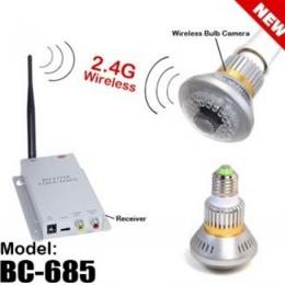 2.4G Wireless Bulb CCTV Security AV Camera