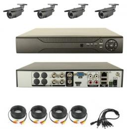 4CH H.264 DVR Kit With 4pcs Waterproof CCD Cameras