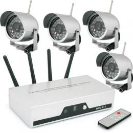 4Pcs wireless Camera with receiver & remoter control