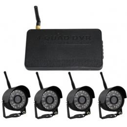 4pcs wireless cameras with DVR System