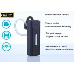 HD 720P Bluetooth Headset Camera