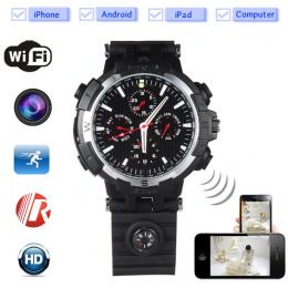 720P WiFi P2P Watch DVR Camera with 8GB